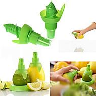 2PCS Creative Juice Juicer Lemon Spray Mist Orange Fruit Gadge Sprayer Kitchen(Random Color))21*10*2 cm