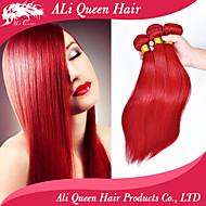 ali dronning hår 6a brazilian jomfru hår lige mode lidenskab rødt remy væver 3stk / lot gratis forsendelse