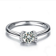 Marriage Ring 0.5CT Brand Quality Sterling Silver Jewelry SONA Simulate Diamond Ring Bridal Love Forever Platinum Plated