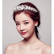 Women Pearl/Crystal Tiaras/Headbands/Forehead Jewelry With Crystal/Pearl Wedding/Party Headpiece