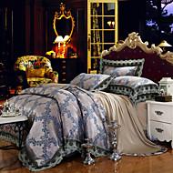 yuxin®tencel modal tejido satinado habitación de la boda ropa de cama jacquard 4 piezas juego de cama 1.5m-1.8m / cama 2.0m