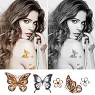 metalíza tetování nastavit velká velikost zlato tetování stříbrné dočasné tetování metalíza dočasné tetování ženy šperky