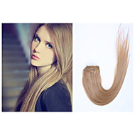 10pcs/Lot 26Inch/65cm 160g/pack multiple color options straight clip in hair Extension Grade5A Human Hair Extension