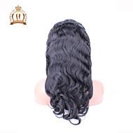 """10 """"-26"""" glueless csipke első paróka test hullám brazil szűz hajszín természetes fekete baba haja fekete nők számára"""