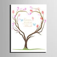 e-Home® personlig fingeraftryk maleri lærred udskriver - kærlighed træ (indeholder 12 blækfarver)