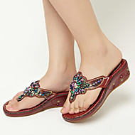 Women's Shoes Patent Leather Wedge Heel Flip Flops Slippers Dress More Colors available