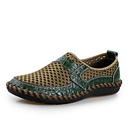 Men's Shoes Casual Tulle Loafers Brown/Blue/Green