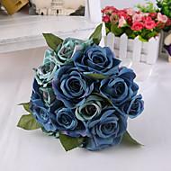 Magic Blue Rose Flowers Wedding Bouquet for Home Decoration