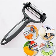 4 ב 1 סכין ציקלון מבצע ירקות פלדת הפירות קולפן החותך חלד (צבע אקראי)