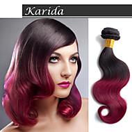 3 svazky 12-30 palců špičková kvalita levný vlasy tkaní brazilský lidský vlas 1b / 530 # ombre tělo vlna