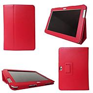 のために Samsung Galaxy ケース スタンド付き / フリップ ケース フルボディー ケース ソリッドカラー PUレザー SamsungTab 4 10.1 / Tab 4 8.0 / Tab 4 7.0 / Tab 3 7.0 / Tab 3 8.0 /