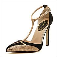 Chaussures Femme - Extérieure / Bureau & Travail - Noir / Blanc - Talon Aiguille - Talons - Talons - Satin