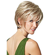 Natural High Quality Capless Short Wavy Mono Top Human Hair Wigs Nine Colors to Choose