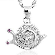 Unisex Silver Snails Pendant Chain Necklace
