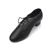 Women's Dance Shoes Modern Leather Low Heel Black