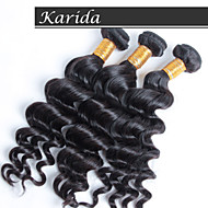 12-30 inch Brazilian Human Hair Wet and Wavy Weave Natural Color Loose Wave