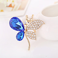 Butterfly Shape Vintage/Party/Casual Alloy/Cubic Zirconia Diamond Charm Pendant Necklace