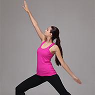 sem mangas ajuste yoga das mulheres encabeça permeabilidade respirável / umidade / secagem rápida / static-free / compressão / leve