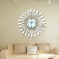 Modern Style Luxury Mirror with Iron Mute Wall Clock