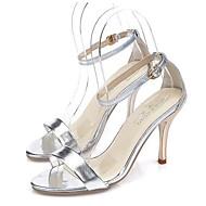 Sandály - Třpytky - Podpatky / Pohodlné - Dámská obuv - Stříbrná / Zlatá - Kancelář / Šaty / Party - Vysoký
