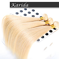3 psc/Lot European Hair Blonde Brazilian Hair Color 27#、613#, Karida Hair Unprocessed Top Quality Human Hair Extensions