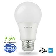 1 kpl Bymea E26 10.0 W 26 SMD 2835 810 LM Lämmin valkoinen/Kylmä valkoinen/Neutraali valkoinen A Himmennettävä Pallolamput AC 110-130 V