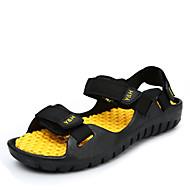 Men's Shoes Fabric Outdoor / Casual Sandals Outdoor / Casual Flat Heel Hook & Loop Black / Blue / Brown / Yellow
