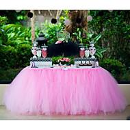 생일 데스크 장식 모듬 된 색상 25 야드의 웨딩 장식 클래식 얇은 명주 그물 스풀 (6 인치 * 25야드)