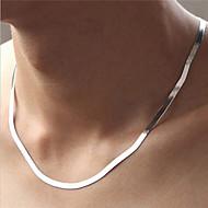 Modische Halsketten Silber Ketten Schmuck Party / Alltag / Normal / Sport Modisch Sterling Silber Silber 1 Stück Geschenk