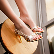 Sandaalit - Piikkikorko - Naisten kengät - Tekonahka - Pinkki / Hopea / Kulta - Puku - Avokärkiset