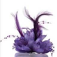 Bouquets de Noiva Forma-Livre Rosas Alfinetes de Lapela Casamento Festa / noite Tule Pele Chifon