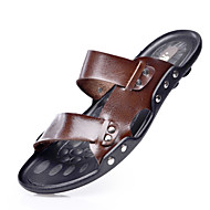 Men's Shoes Casual Leather Sandals Black/Brown