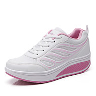 Women's Shoes Tulle Low Heel Round Toe Fashion Sneakers Outdoor Blue/Pink/Red/Gray