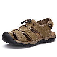 Men's Sports Sandals Shoes Leather Black / Brown / Taupe