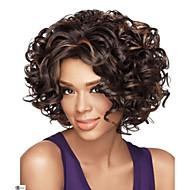 afrikkalainen amerikkalainen peruukki seksikäs tumman ruskea yhdistelmä lyhyet kiharat hiukset peruukki ilmainen postitus