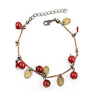 Red Cherry Coin Female Tassel Bracelet