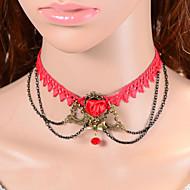 muoti punainen ruusu bowknot kaulakoru