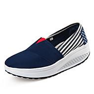 Damen-Loafers & Slip-Ons-Lässig-Leinwand-Keilabsatz-Andere-Hellblau