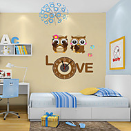 DIY Cartoon Cute Owl Wall Clock