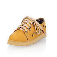 Women's Shoes Synthetic Flat Heel Mary Jane Oxfords Office & Career/Dress/Casual Blue/Yellow/Pink/Tan