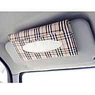 auto sluneční clona tkáň box auto příslušenství Držák na papírový ubrousek clip- pu kožené pouzdro