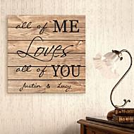 e-home® personlig signatur lerret ramme hele meg elsker dere alle