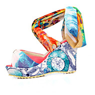 Women's Shoes Synthetic Wedge Heel Wedges/Heels/Platform/Basic Pump/Open Toe Sandals Outdoor/Office & Career/Dress