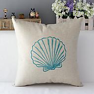 escudo do mar em estilo country modelado algodão / linho cover decorativo travesseiro