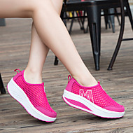 Women's Shoes Tulle Flat Heel Comfort/Crib Shoes Fashion Sneakers  Career/Athletic/Casual Black/Blue/Pink/Red/Gray
