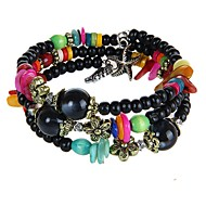 Women's Casual Fashion Bohemian Persona Beads Collection Bracelet Resin