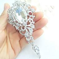 Wedding Accessories Silver-tone Clear Rhinestone Crystal Bridal Brooch Wedding Deco Brooch Bouquet Wedding Jewelry