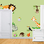 Tatuajes de pared pegatinas de pared, animal del parque zoológico de pvc pegatinas de pared