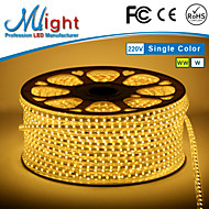 Mlight 10 Meter 72 leds/m 5050 SMD Warm White/White Waterproof/Cuttable 3 W Flexible LED Light Strips AC110-220 V
