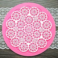 kulatý květina krajky ve tvaru fondant dort čokoláda silikonová forma / dekorace nářadí